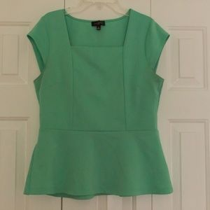 The Limited Mint Peplum Blouse
